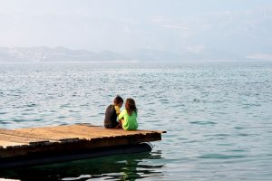 children and pier